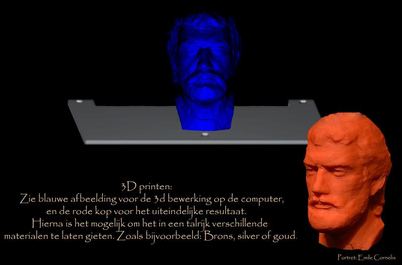 3D Printen tijden expositie TEFAF