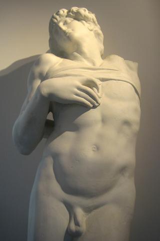 Stervende slaaf 1513 van Michelangelo - orgineel in het Louvre