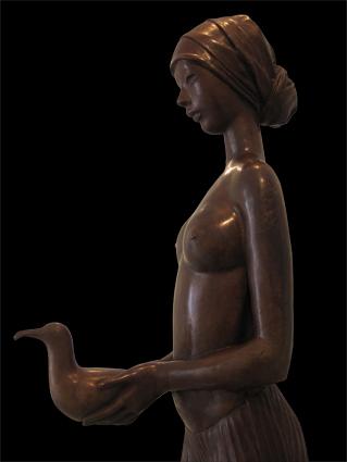 detail Meisje met meeuw, Pueva