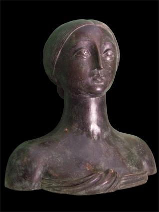 Busto Luna Piena, brons