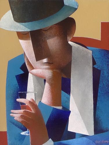 Man met wijnglas