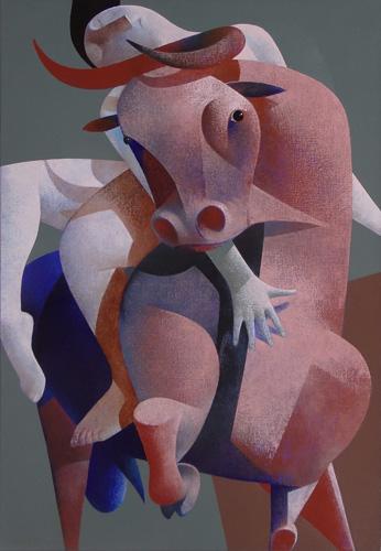 Vrouw met stier